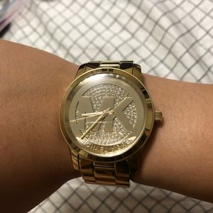 Michael Kors Gold Crystal Watch
